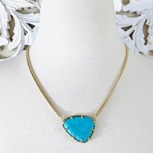 {Kendra Scott} Turquoise Gold Merritt Necklace